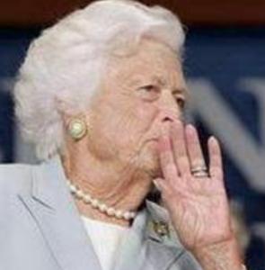 バーバラ・ブッシュ 死去(死因と病名)。昔若い頃は美人で可愛い(画像)