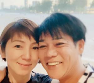 名倉潤と渡辺満里奈のツーショット(インスタ画像)。離婚も子供も不仲もデマ?
